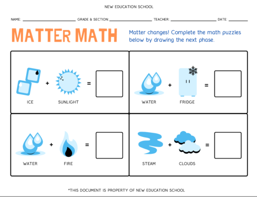 Phases of Matter Printable Worksheet