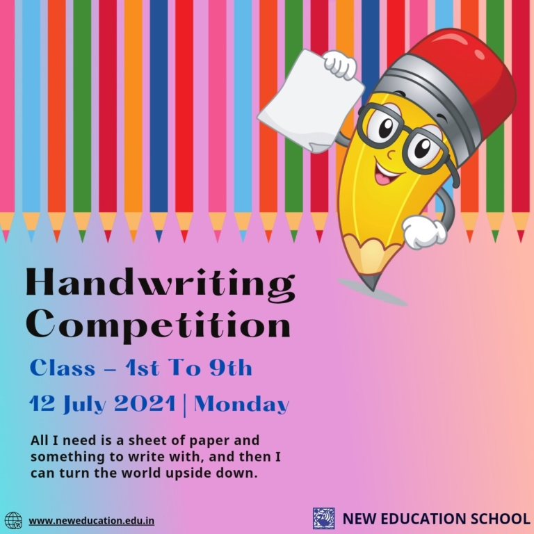 Handwriting Competition 12 July 2021